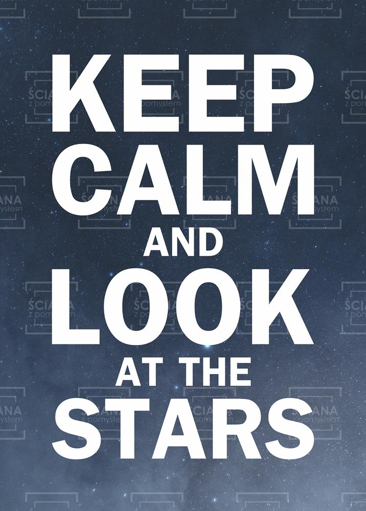 Plakat Keep Calm And Look At The Stars Kc012